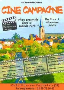 Affiche du festival ciné-campagne au Cinéma le Vendelais